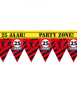 Party zone lint 25 jaar